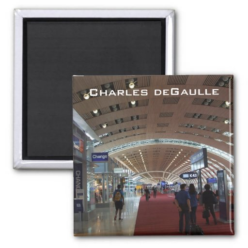 Charles deGaulle International Airport 2 Inch Square Magnet