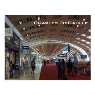 Charles DeGaulle International Airport Postcard