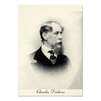 Charles Dickens 3.5x5 Paper Invitation Card