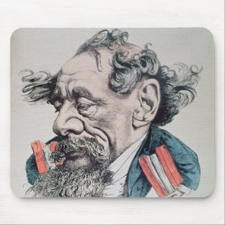 Charles Dickens a horcajadas en el canal inglés Mousepad
