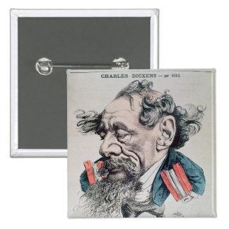 Charles Dickens a horcajadas en el canal inglés Pin Cuadrado