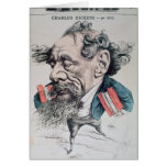 Charles Dickens astride the English Channel Greeting Card