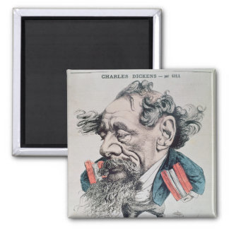 Charles Dickens astride the English Channel Refrigerator Magnets