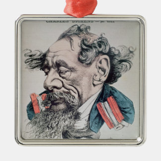 Charles Dickens astride the English Channel Metal Ornament