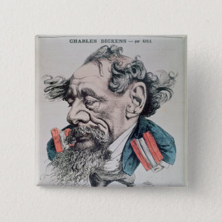 Charles Dickens astride the English Channel Pinback Button