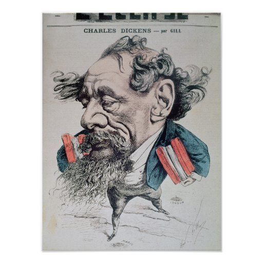 Charles Dickens astride the English Channel Posters