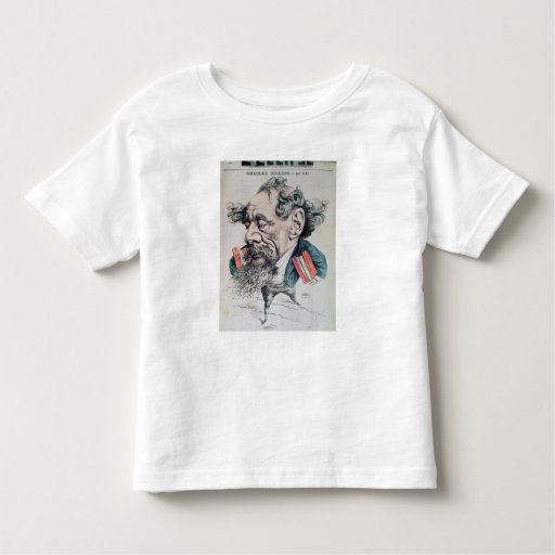 Charles Dickens astride the English Channel Toddler T-shirt