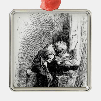 Charles Dickens at the Blacking Factory an Metal Ornament