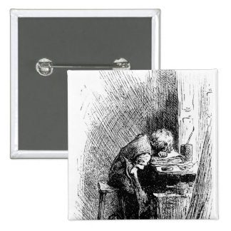 Charles Dickens at the Blacking Factory an Pinback Button