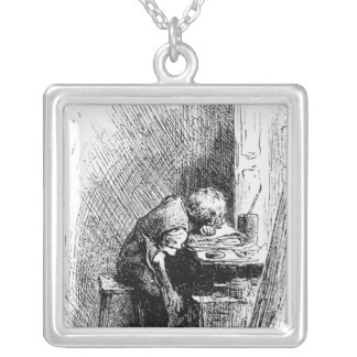 Charles Dickens at the Blacking Factory an Silver Plated Necklace