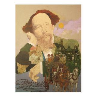 Charles Dickens, autor inglés Postal