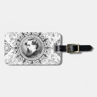 Charles Dickens banner famous novelist Bag Tag