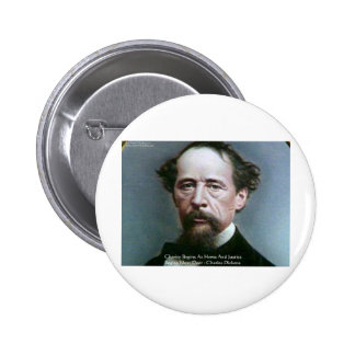 "Charles Dickens ""Charity @Home"" Quote Gifts Button"