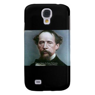 """Charles Dickens """"Charity @Home"""" Quote Gifts Samsung Galaxy S4 Covers"""