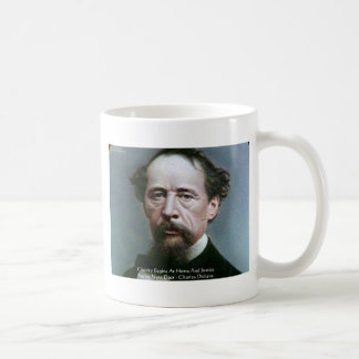 """Charles Dickens """"Charity @Home"""" Quote Gifts Coffee Mug"""