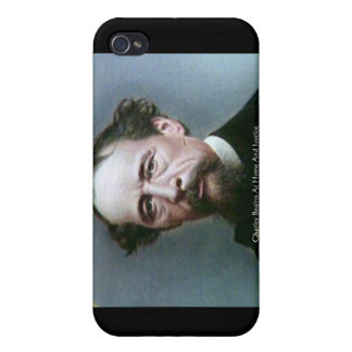 """Charles Dickens """"Charity @Home"""" Quote Gifts Case For iPhone 4"""