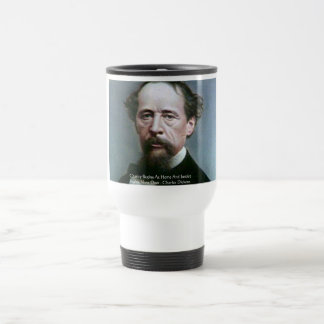 "Charles Dickens ""Charity @Home"" Quote Gifts Travel Mug"