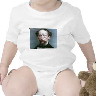"""Charles Dickens """"Charity @Home"""" Quote Gifts Baby Bodysuit"""