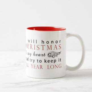 Charles Dickens Christmas Quote Two-Tone Coffee Mug