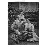 Charles Dickens con dos de sus hijas Tarjeta De Felicitación