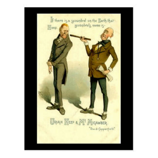 "Charles Dickens, ""David Copperfield"" Postcard"
