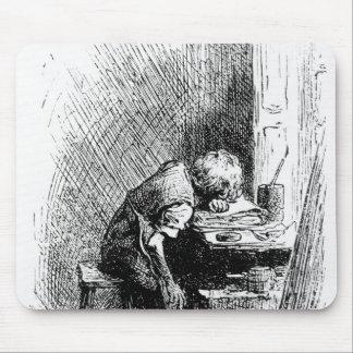 Charles Dickens en la fábrica que se ennegrece Mousepad