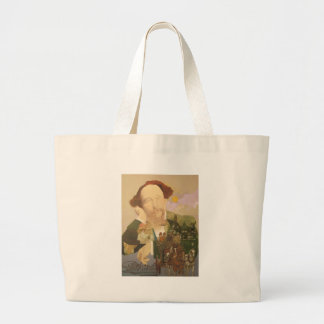 Charles Dickens, English Author Large Tote Bag