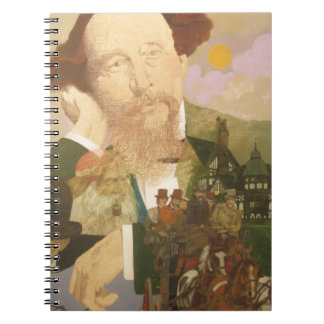 Charles Dickens, English Author Spiral Notebooks