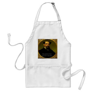 Charles Dickens & Heartfelt Quote Adult Apron