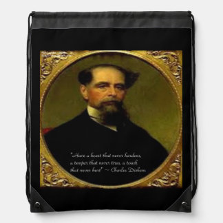 Charles Dickens & Heartfelt Quote Backpack