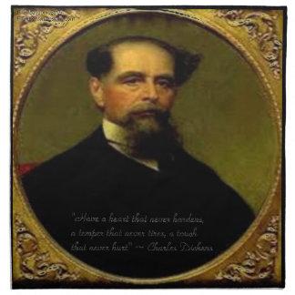 Charles Dickens & Heartfelt Quote Napkin