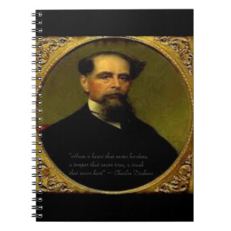 Charles Dickens & Heartfelt Quote Notebook
