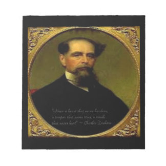 Charles Dickens & Heartfelt Quote Notepad