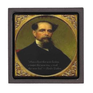 Charles Dickens & Heartfelt Quote Premium Jewelry Box