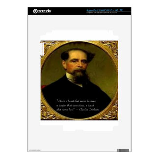 Charles Dickens & Heartfelt Quote Skins For iPad 3