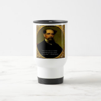 Charles Dickens & Heartfelt Quote Travel Mug