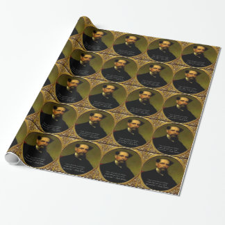 Charles Dickens & Heartfelt Quote Wrapping Paper