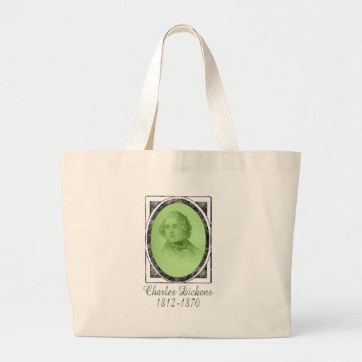 Charles Dickens Large Tote Bag