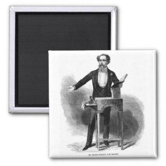 Charles Dickens' Last Reading Fridge Magnets