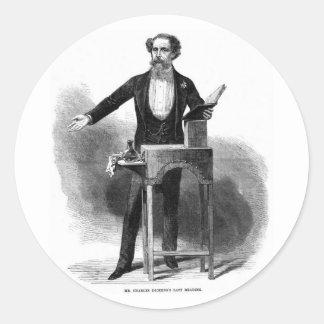 Charles Dickens' Last Reading Round Sticker
