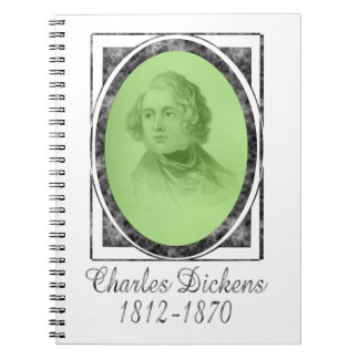 Charles Dickens Spiral Note Book