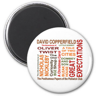 Charles Dickens Novels 2 Inch Round Magnet