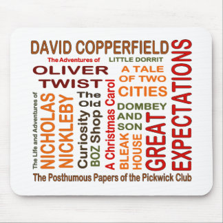 Charles Dickens Novels Mouse Pad