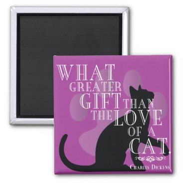 wordstolivebydesign Charles Dickens on Cats Quote Magnet