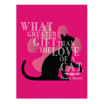 Charles Dickens on Cats Quote Postcard