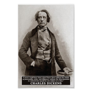 Charles Dickens on Habits quote poster
