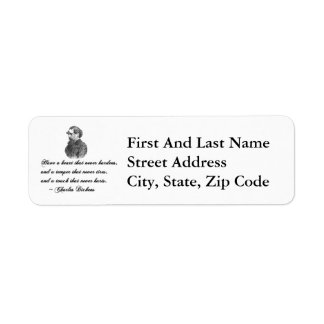 Charles Dickens Our Mutual Friend quote Return Address Label