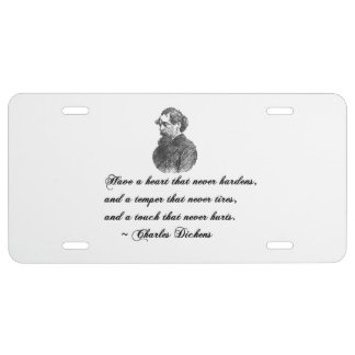 Charles Dickens Our Mutual Friend quote License Plate