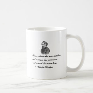 Charles Dickens Our Mutual Friend quote Classic White Coffee Mug