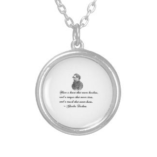 Charles Dickens Our Mutual Friend quote Silver Plated Necklace